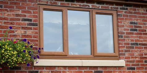 upvc windows doors  golden oak woodgrain effect  clearview