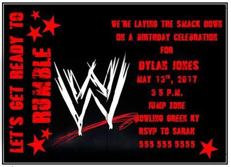 wwe wrestling birthday party invitation royal rumble