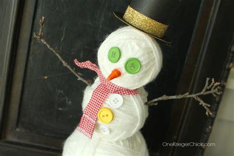 Home Decor Yarn : Yarn Ball Snowman {home Decor Contributor}
