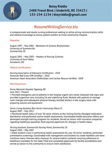 Sle Resume Format For Nurses by Resume Sle Resume Writing Service