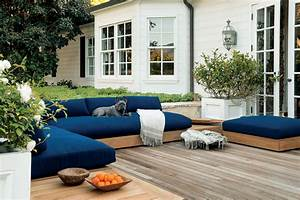 Teak outdoor sectional sofa by james perse malibu for Malibu outdoor sectional sofa