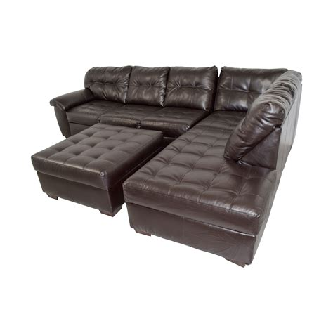 Simmons Ottoman by 47 Simmons Simmons Brown Leather Sectional With