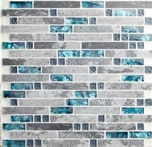 black silver glass mosaic kitchen wall tiles backsplash