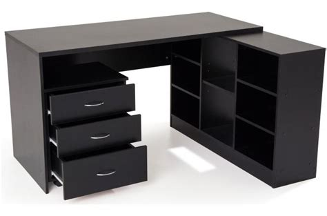 bureau avec retour pas cher bureau en imitation bois noir avec retour flash bureau