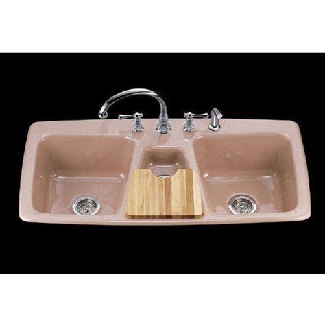 kohler basin cast iron kitchen sink from the trieste series k 5914 4 free shipping