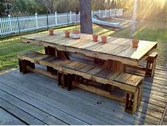 Make Outdoor Wood Table by 22 Cheap Easy Pallet Outdoor Furniture DIY To Make
