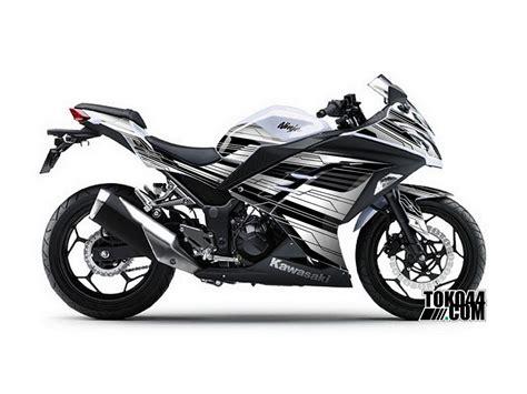 Kawasaki 250 Modifikasi Putih by Decal Sticker Modifikasi Kawasaki 250 Fi Putih