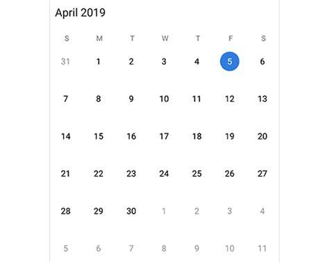 xamarinandroid calendar control month calendar syncfusion
