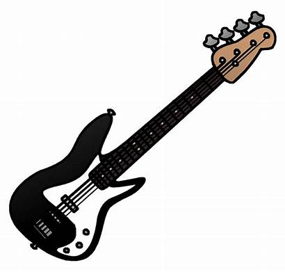 Guitar Bass Clip Cartoon Clipart Phantom Cliparts