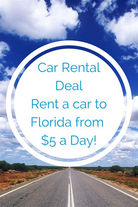Car Rental Florida by One Way Car Rental Deals 5 Day Home From Florida