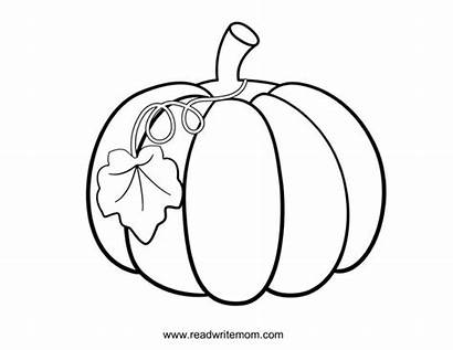 Coloring Fall Pumpkin Pages Printable Things Readwritemom