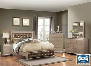 Hollywood Champagne 6 Piece Queen Bedroom