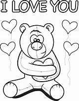 Coloring Bear Teddy Printable Valentines Valentine Sheets Colouring Cards Well Mpmschoolsupplies Children Drawings Mom A7 Disney Bears Colorings sketch template