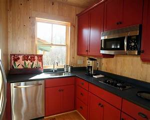 2012 With red kitchen designs photo gallery
