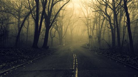 Spooky Wallpaper For by Road Forest Spooky Wallpapers Hd Desktop And Mobile