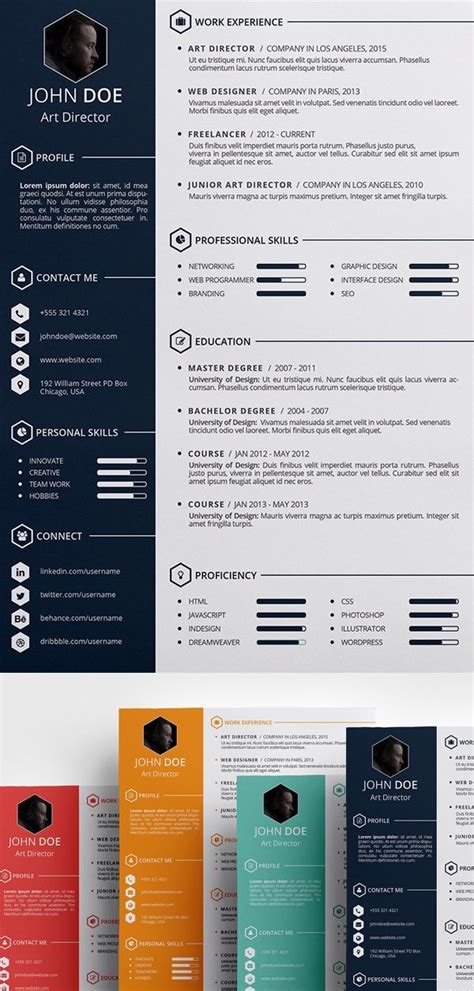 Unique Resume Templates Free by Modern Resume Template Professional Resume Template