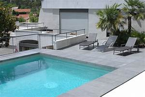 Drop face bluestone pool coping and matching pavers installation images