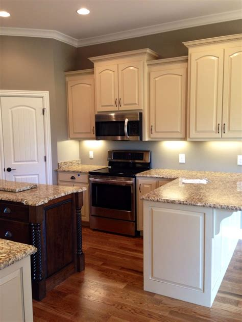 kitchen paint colors with walnut cabinets almond brittle porter paint color cabinets walnut 9516
