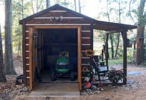 lawn tractor shed bobbs build a lawn mower shed 3685