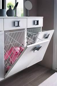 Solutions pour intégrer une buanderie à la salle de bains