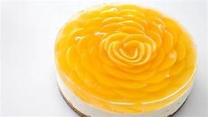 "pankobunny: Peach ""Rose"" Cheesecake 桃のバラのチーズケーキ"