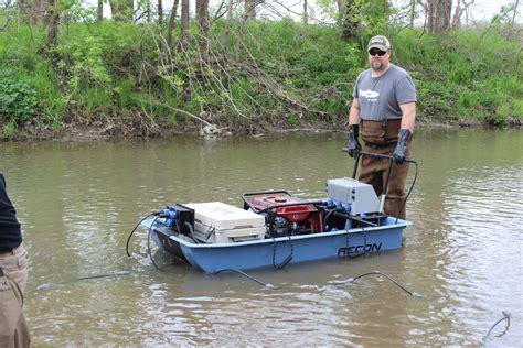 Mini Boat by Recon Mini Boat Electrofishing Tote Barge Midwest Lake