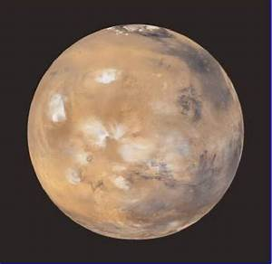 Hemisphere Of Mars Showing  From Left To Lower Right