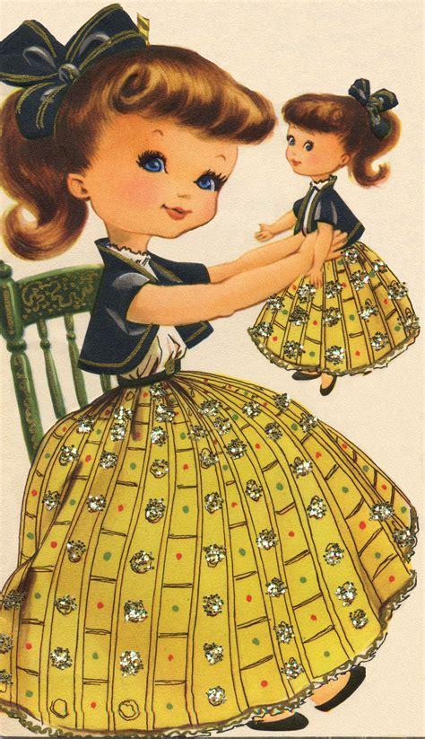 sweet brunette girl  doll  cute vintage