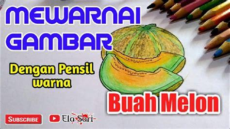 mewarnai gambar buah dengan pensil warna