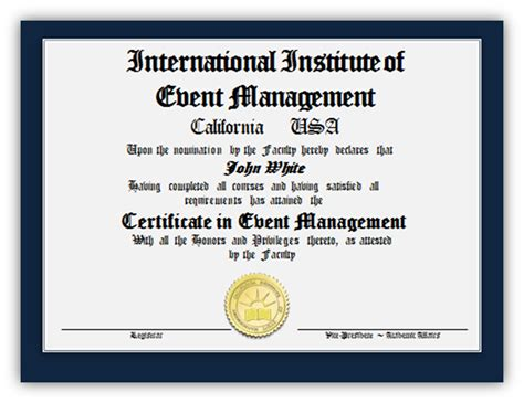 | International Institute Of Event Management