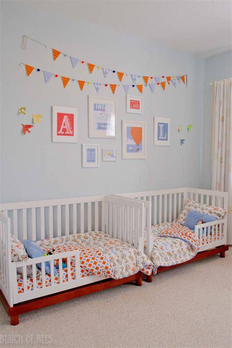 twin boys toddler room project nursery