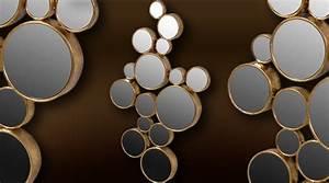 Décoration Murale Dorée : miroir d co murale 15 cercles extrud s dor s art d co ~ Teatrodelosmanantiales.com Idées de Décoration