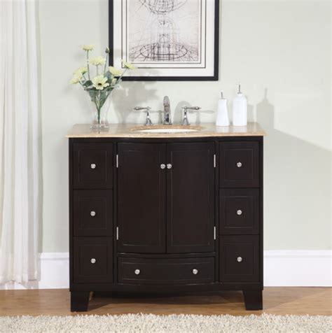 Bathroom Vanities - 40 inch single sink espresso bathroom vanity