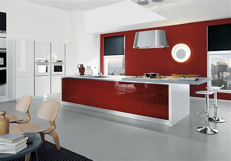 Decor Ideas For Kitchens - red kitchen design ideas pictures and inspiration