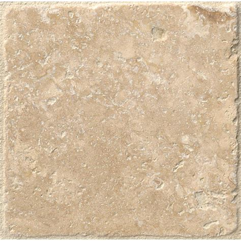 tumbled travertine ms international chiaro 4 in x 4 in tumbled travertine floor and wall tile 1 sq ft case