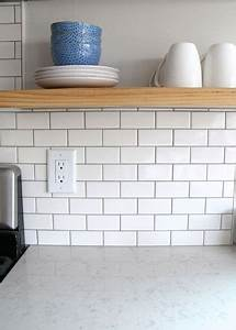best 25 white tile backsplash ideas on pinterest subway With kitchen cabinets lowes with subway canvas wall art