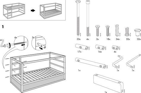 Ikea Bed Gebruiksaanwijzing by Handleiding Ikea Kura Bed Pagina 3 14 Dansk