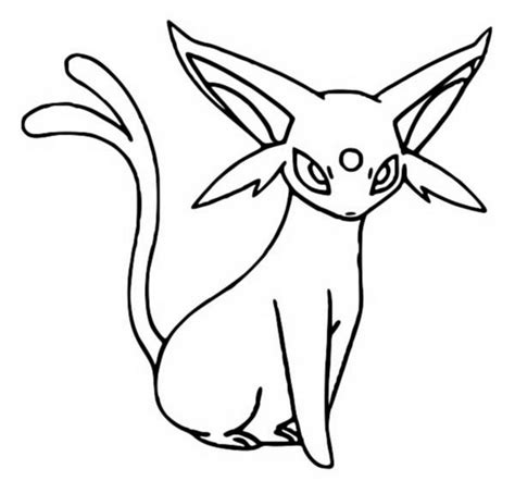 Coloring Pages Pokemon Espeon Drawings Pokemon