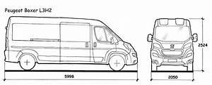 Peugeot Boxer Dimensions  The Vector Drawing Peugeot Boxer