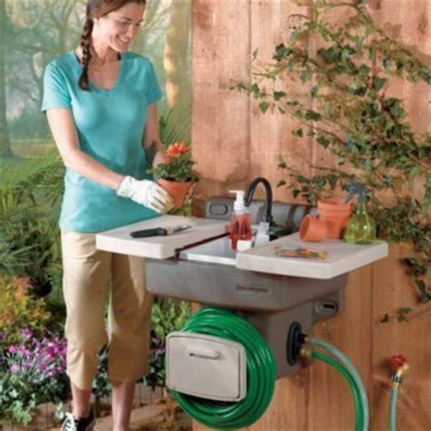 indoor no plumbing sink outdoor garden sink work station gardens reel and work