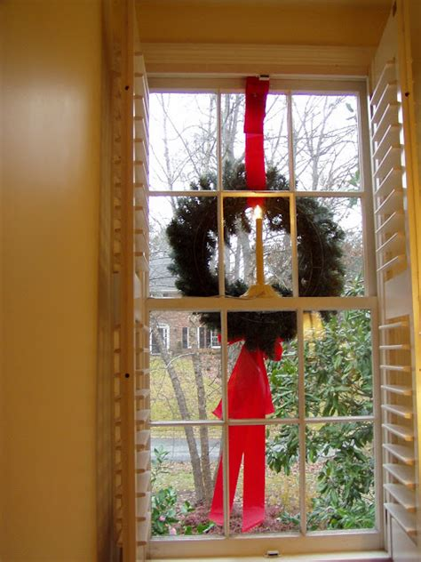 hang wreaths   exterior windows