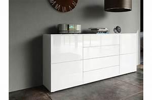 Meuble Blanc Pas Cher : meuble buffet design pas cher ~ Dailycaller-alerts.com Idées de Décoration