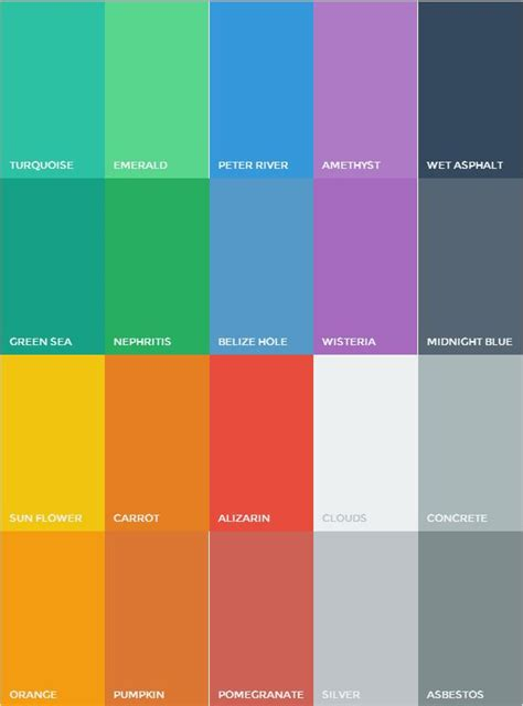 flat color flat ui colors http flatuicolors design trend