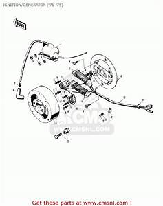 Kawasaki Mt1 Minitrail 1971 Ignition  Generator   U0026 39 71