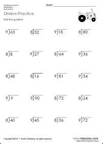 free division worksheets for grades 3 6 tlsbooks