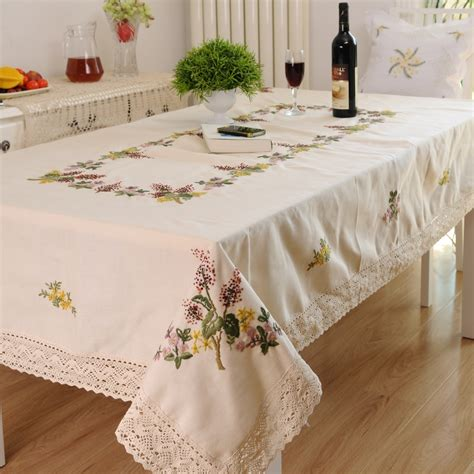 hetaiyiyuan fashion embroidery home table cloth tablecloth embroidery