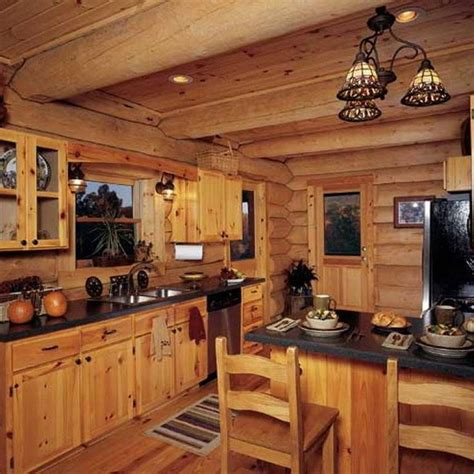rustic cabin kitchen cabinets cool 72 log cabin kitchen ideas http architecturemagz 4962