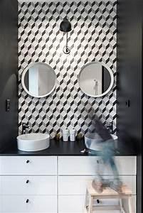Papier Adhésif Carreaux De Ciment : beautiful papier peint carreau ciment contemporary ~ Premium-room.com Idées de Décoration