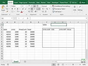 fifo inventory valuation in excel using data tables With fifo spreadsheet template