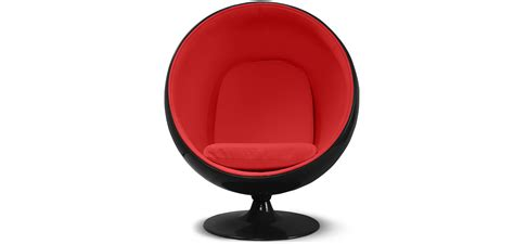 fauteuil chair ballon style eero aarnio coque simili cuir pas cher